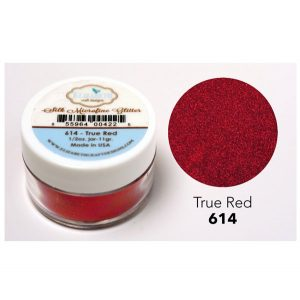Elizabeth Craft Designs Silk Microfine Glitter - True Red