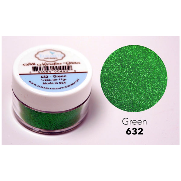 Elizabeth Craft Designs Silk Microfine Glitter Green The Foiled Fox