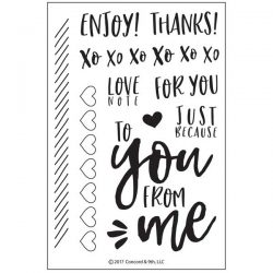 Concord & 9th Love Notes Stamp Set