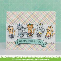 """<span style=""""color:red;"""">PREORDER</span> Lawn Fawn Meow You Doin' Stamp Set"""