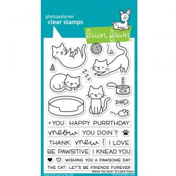 Lawn Fawn Meow You Doin' Stamp Set