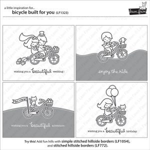 Lawn Fawn Bicycle Built for You Stamp Set class=