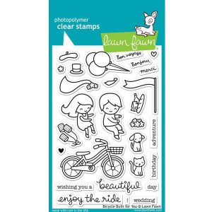 "<span style=""color:red;"">PREORDER</span> Lawn Fawn Bicycle Built for You Stamp Set"