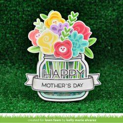 "<span style=""color:red;"">PREORDER</span> Lawn Fawn Happy Happy Happy Lawn Cuts"