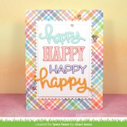 "<span style=""color:red;"">PREORDER</span> Lawn Fawn Happy Happy Happy Stamp Set"