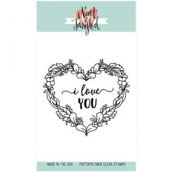 Neat & Tangled Floral Heart Stamp
