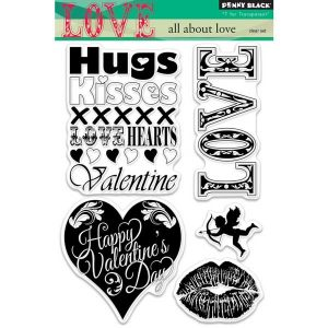 Penny Black All About Love Stamp Set