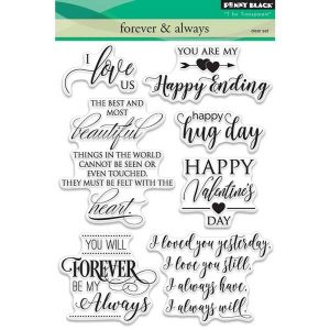 Penny Black Forever & Always Stamp Set