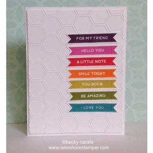 Whimsy Stamps Bold Banners Stamp Set class=