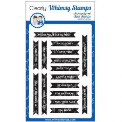 Whimsy Stamps Bold Banners Stamp Set