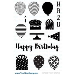 Your Next Stamp Happy Birthday Stamp Set