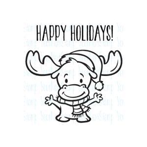 Your Next Stamp Mini Merry Chris-Moose Stamp