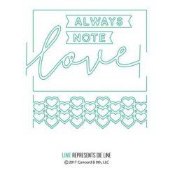 Concord & 9th Love Always Frame Dies Set