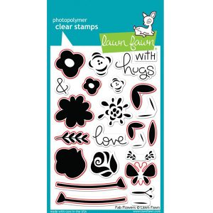 Lawn Fawn Fab Flowers Stamp Set class=