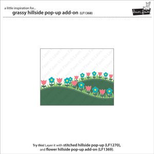 Lawn Fawn Grassy Hillside Pop-Up Add-On Lawn Cuts class=