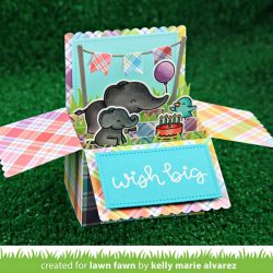 """<span style=""""color:red;"""">PREORDER</span> Lawn Fawn Scalloped Box Card Pop-Up Lawn Cuts"""