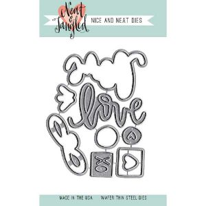 Neat & Tangled Love Notes Die Set