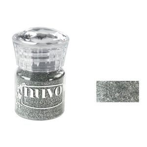Nuvo Glitter Embossing Powder - Silver Moonlight class=
