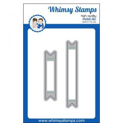 Whimsy Stamps Bold Banners Die Set