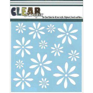 ClearScraps Daisies Stencil