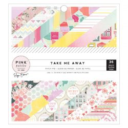 "Pink Paislee Take Me Away Single-Sided Paper Pad - 6"" X 6"""