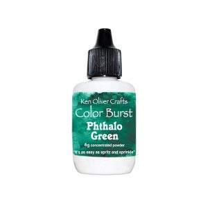 Ken Oliver Color Burst Watercolor Powder – Phthalo Green