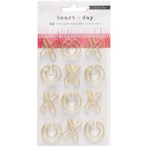 Crate Paper Heart Day Shaped Paper Clips 12/Pkg