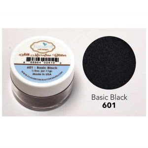 Elizabeth Craft Designs Silk Microfine Glitter – Basic Black