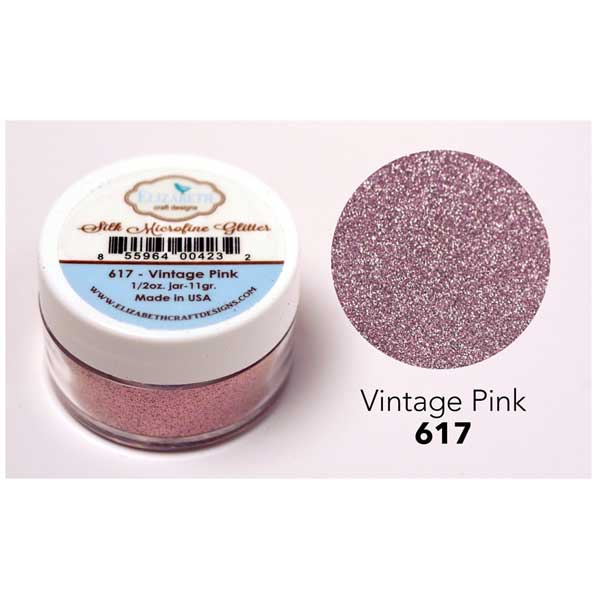 Elizabeth Craft Designs Silk Microfine Glitter Vintage Pink The