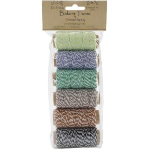 Hemptique Cotton Baker's Twine Mini Spool Set 2 class=