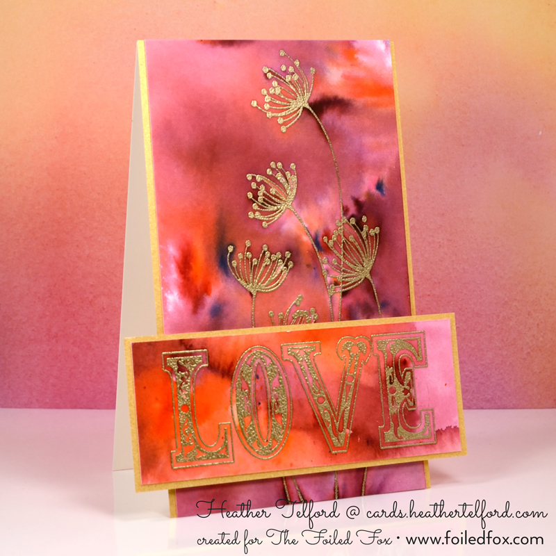 All About Love Card by Heather Telford