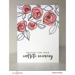 Altenew Bamboo Rose Stamp Set