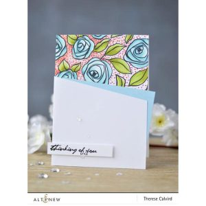 Altenew Bamboo Rose Stamp Set class=