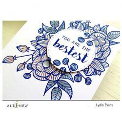 Altenew Floral Shadow Stamp Set
