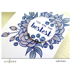 Altenew Floral Shadow Stamp Set class=