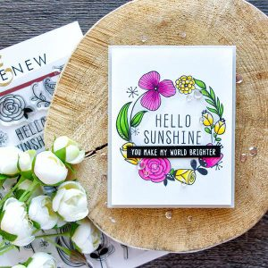 Altenew Hello Sunshine Stamp Set class=