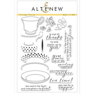 Altenew Vintage Teacup Stamp Set