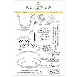 Altenew Vintage Teacup Stamp Set