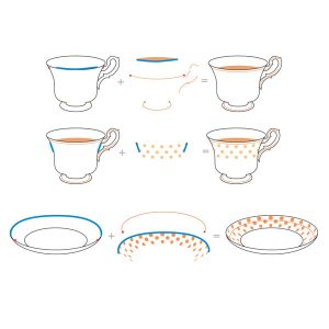 Altenew Vintage Teacup Stamp Set class=
