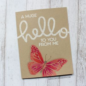 Concord & 9th Say Hello Stamp Set class=