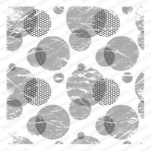 Impression Obsession Mesh Circles Background Stamp