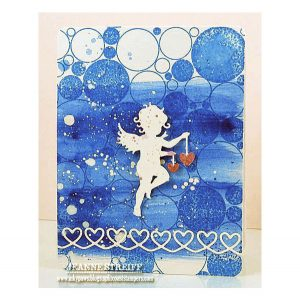 Impression Obsession Cover-a-Card Random Circles Background Stamp class=