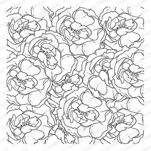 Impression Obsession Layered Roses Background Stamp