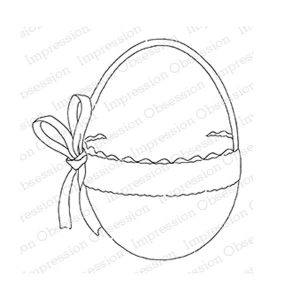 Impression Obsession Elegant Egg Basket Stamp
