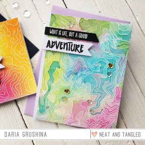 Neat & Tangled Topography Stamp Set class=