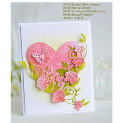 Memory Box Stitched Heart Layers Craft Dies