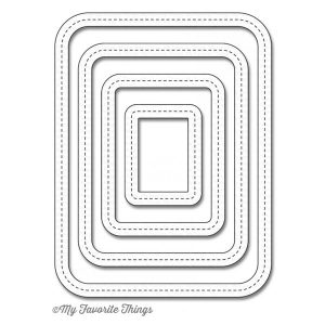 My Favorite Things Die-namics Single Stitch Line Rounded Rectangle Frames