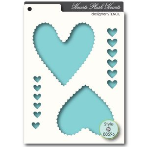 Memory Box Plush Heart Stencil