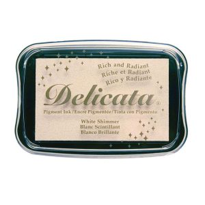 Delicata Pigment Ink Pad – White Shimmer