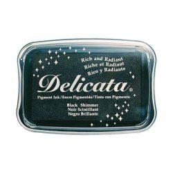 Delicata Pigment Ink Pad – Black Shimmer